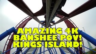 INCREDIBLE 4K Roller Coaster Footage of Banshee at Kings Island Ohio