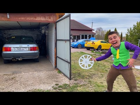 Mr. Joe STOLE Car Rims on Audi 80 VS Red Man in Garage VS Challenges 13+