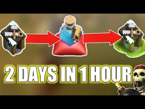 BUILDER POTION IN CLASH OF CLAN SKIP 2 DAYS IN 1 HOUR!!