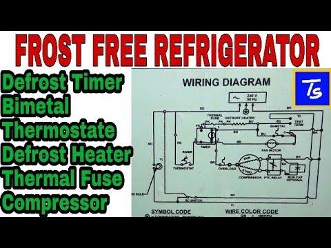 ge refrigerator wiring diagram caravan hitch repair and defrost timer youtube
