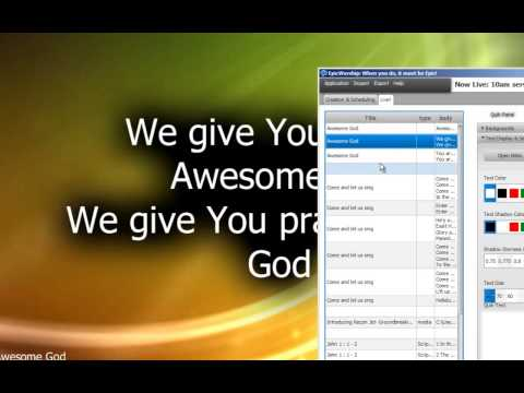 how to use the bible in propresenter 5