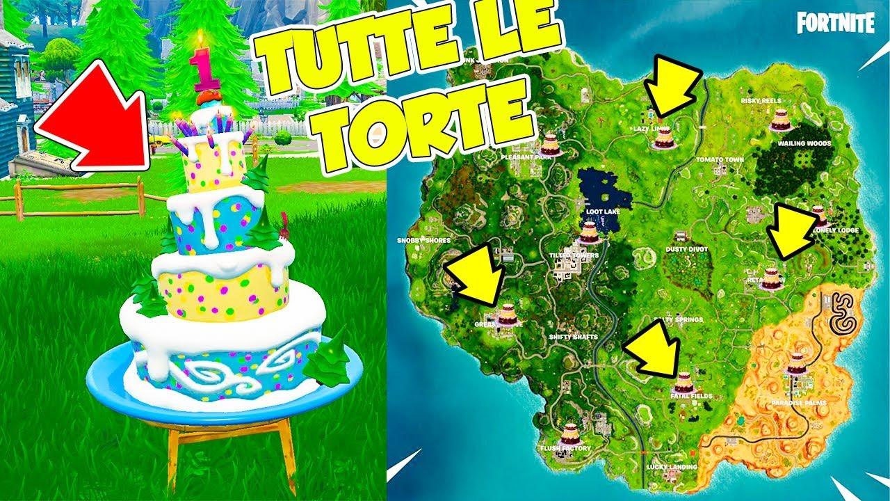 Tutte Le Nuovissime Torte Di Fortnite Battle Royale