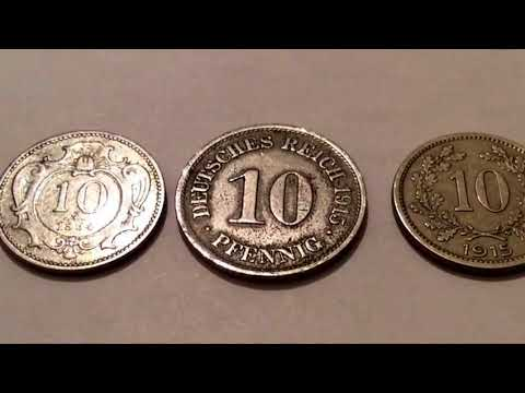 1893.1894.1915 Sammlung alter Münzen aus Deutschland Rare and Old Deutsche Coin Collection