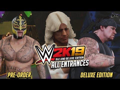 WWE 2K19 : ALL DLC Entrances & Ratings! Ronda Rousey, Rey Mysterio, Undertaker, Rowdy Roddy Piper