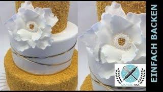 einfache und schnelle Fantasie Blume aus Blütenpaste