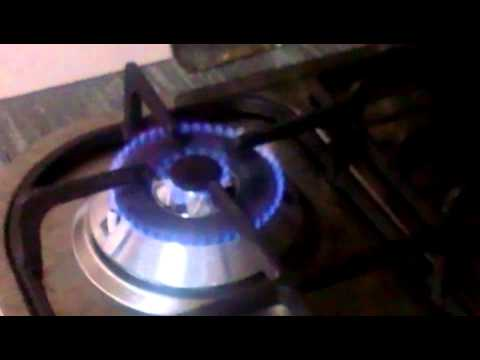 2.Just-bought Gas Hob with-Orange/Red flame and audible noise