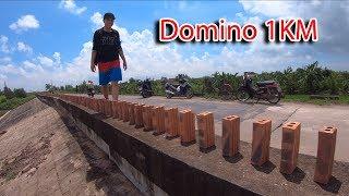 NTN - 4K Thử Xếp Gạch Domino Dài 1KM ( Domino Brick 1KM )