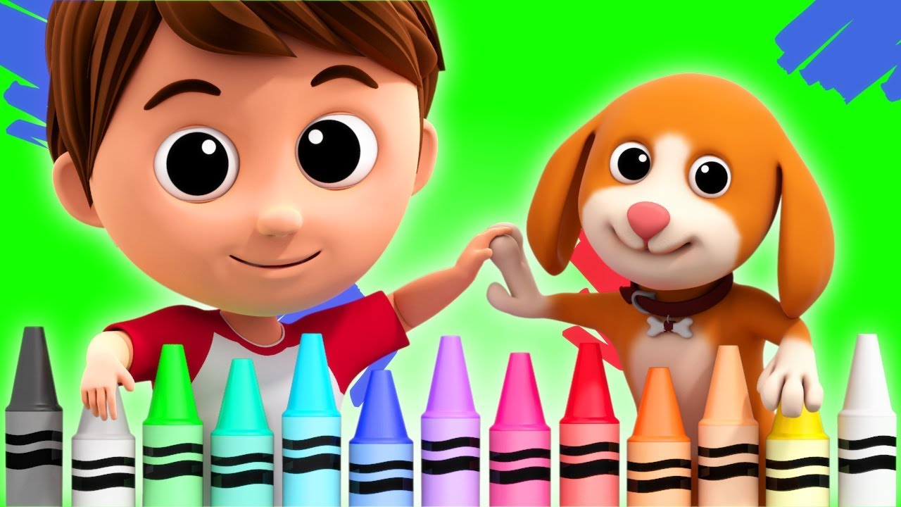 Crayons Color Song   Learn Colours   Nursery Rhymes For Children ...