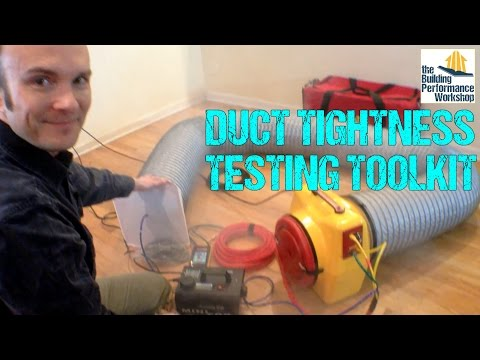 Corbett's Tool Kit: Duct Tightness Testing Equipment