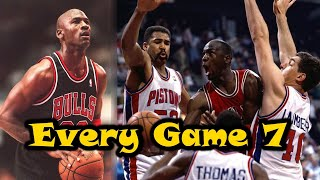 The 3 Times Michael Jordan Has EVER Played In A Game 7