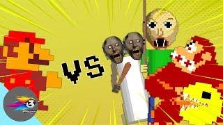 Famous characters VS Super Mario Bros.