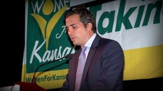 Greg Orman at the Taking Back Kansas convention