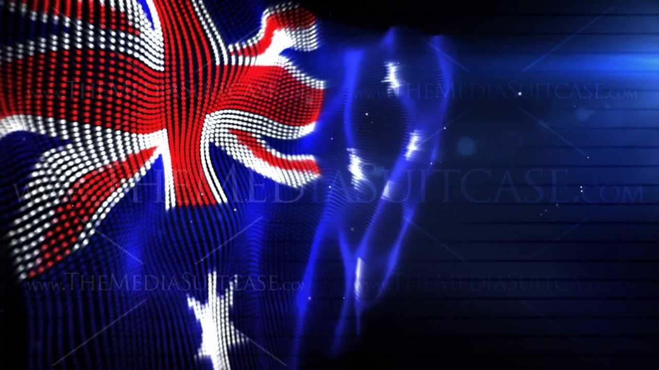 Australian Flag Royalty Free Video