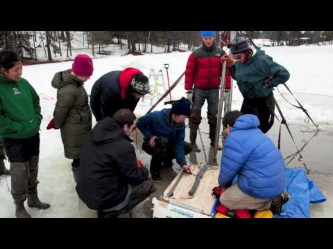 Dartmouth students conduct field research on Occom Pond