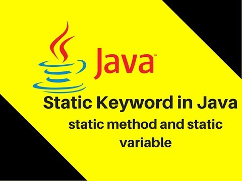7.13 What is Static Keyword in Java | static method and static variable