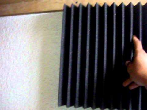 Estudio casero de grabacion espuma acustica youtube for Cuarto de estudio