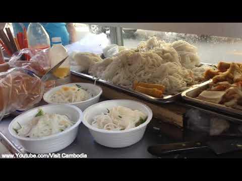 បាញ់សុងទួលទំពុងឆ្ងាញ់នោះឆ្ងាញ់អ្នកលក់ក៏បានមាត់, Bach Sung - Street Food Cambodia Near Toul Tum Pong