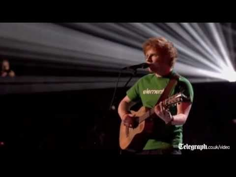 Ed Sheeran scoops two gongs at the Brit Awards 2012