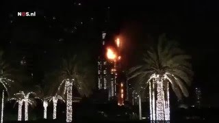 Dubai skyscraper On Fire Burning Tower 2 النار دبي