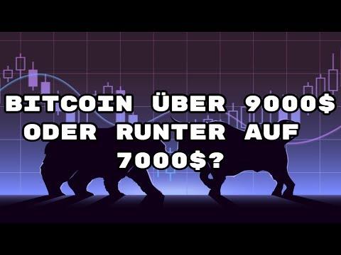 Bitcoin Update - 9000$ Oder 7000$?
