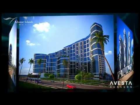 Khazar Islands - New Baku City project .flv