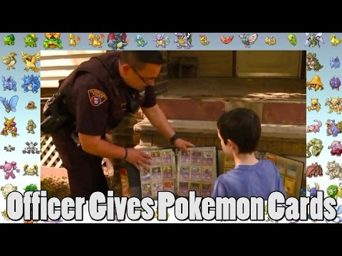 Officer Replaces Child's Stolen Pokemon Cards With His Own Pokemon Card Collection?
