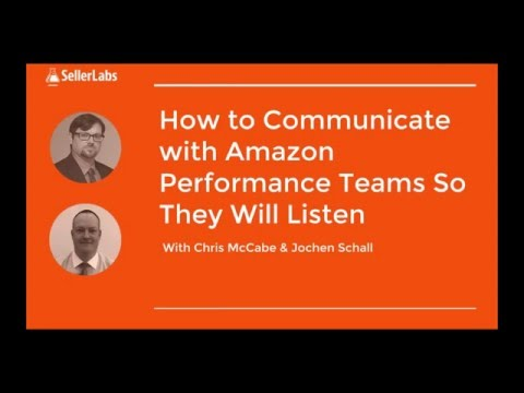 REPLAY: How to Communicate with Amazon Performance Teams So They Will Listen