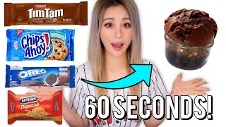 Testing One Ingredient No Bake Cake! Using Famous Cookies To See If They Actually Work