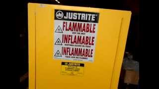 Justrite Flammable Liquid Storage Cabinet Stu