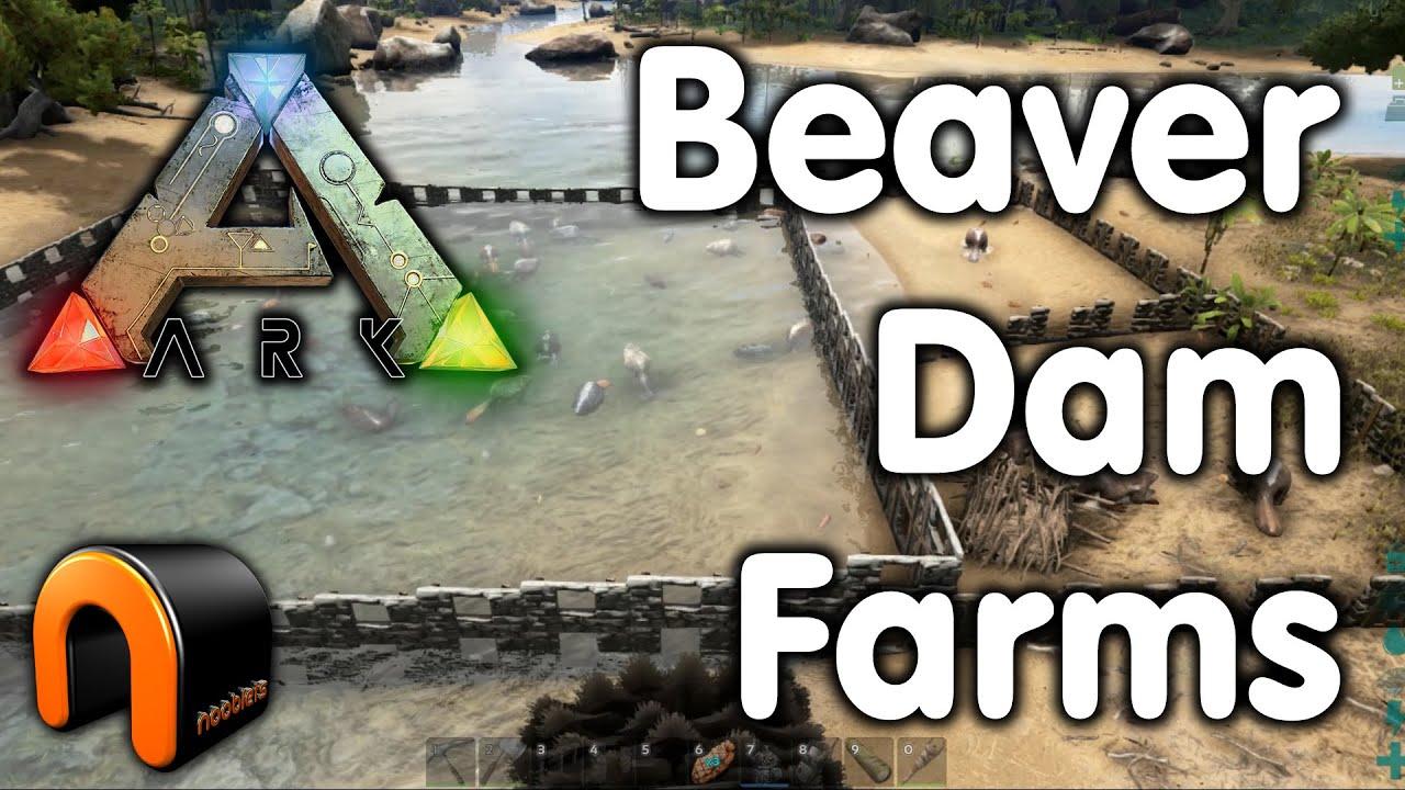 ARK: Beaver Dam Farm!! - YouTube   Ark Beaver Dam