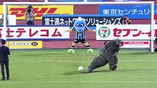 Epic Fail! Godzilla Tries To Take A Penalty Before A League Match In Japan