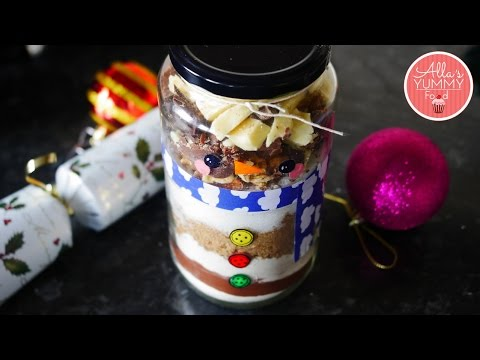 Chocolate Brownie Mix In A Jar | Christmas Recipes