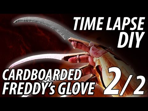 "DIY Freddy's Glove 2/2 ""UNREAL"" build made from Cardboard Time Lapse"