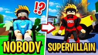 NOBODY to SUPERVILLAIN in Roblox BROOKHAVEN RP!!