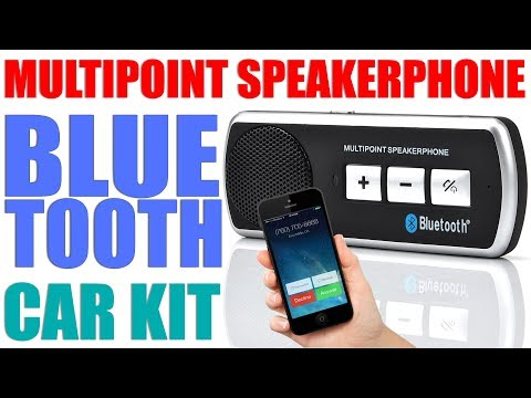 Review Of Wireless Bluetooth Handsfree Car Kit Multipoint Speakerphone Support IPhone Android