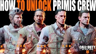 Update: Primis Crew Unlocked! Blackout Zombies Characters (Dempsey, Nikolai, Takeo, Richtofen)