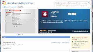 Instalace programu LastPass do Google Chrome