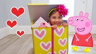 Peppa Pig Toys Delivery in Magic Surprise Toy Box for Valentine's Day!