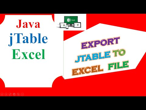Cara Export Jtable Java Ke Excel