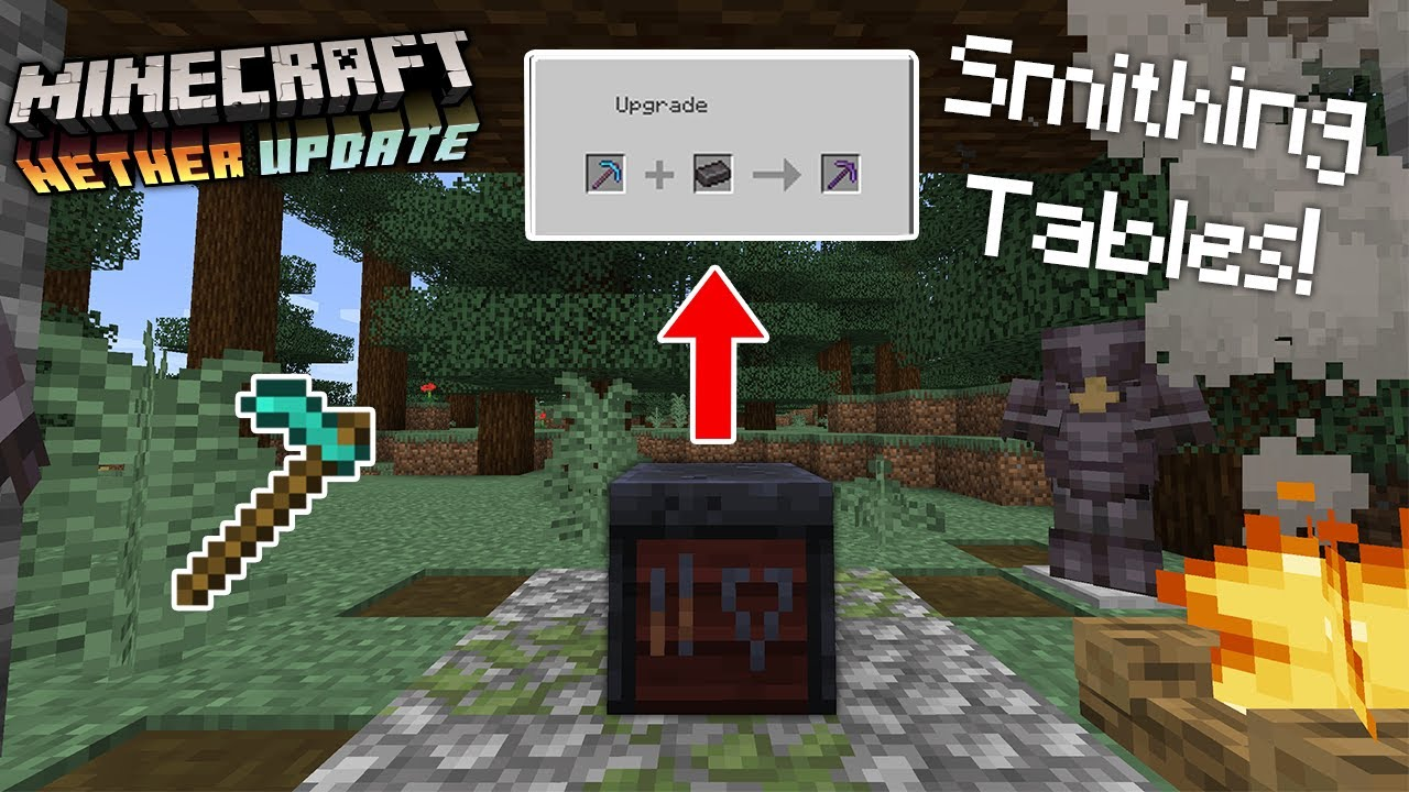 SMITHING TABLE USE! HOES - Minecraft Nether Update Snapshot 12w12a