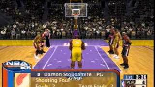 NBA 2K1 Sega Dreamcast Gameplay