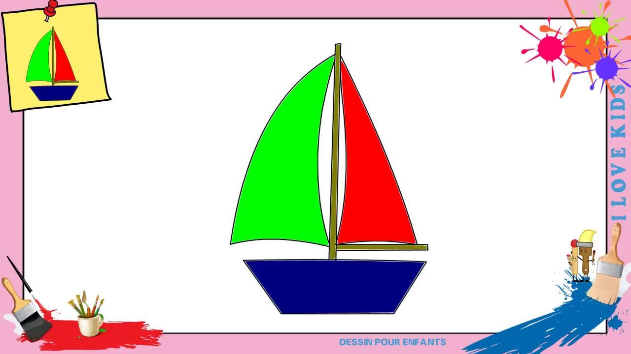 Dessin bateau voile 2 comment dessiner un bateau voile facilement pour enfants youtube - Bateau a dessiner ...