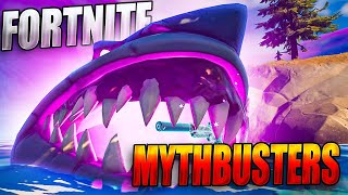FORTNITE MYTHBUSTERS:  What Happens If A SHARK Eats An EXOTIC Weapon (Can You Make An Exotic Shark?)