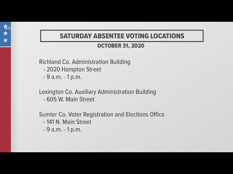 Saturday polling places