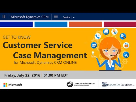 Get to Know Customer Service for CRM Online