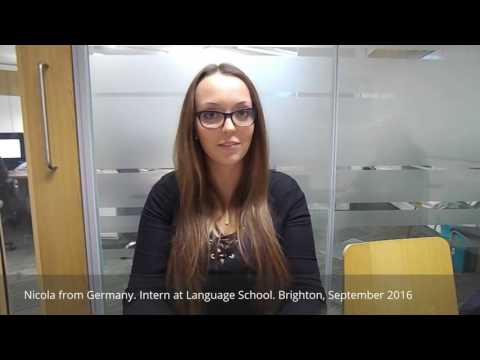 Nicola from Germany talking about her Intership in Brighton 2016