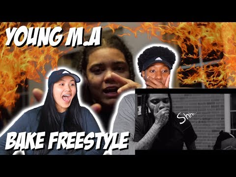 YOUNG M.A - BAKE FREESTLYE   MUSIC VIDEO REACTION