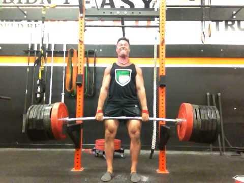Heavy Rack Pull Deadlift Hold Youtube