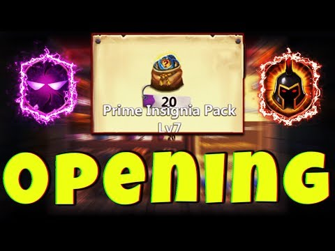 OPENING 20 | Prime Insignia Pack Lv7 | THE GOODS ! | CASTLE CLASH