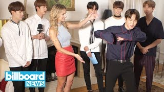 BTS Step by Step Dance Tutorial With Chelsea Briggs | Billboard News thumbnail